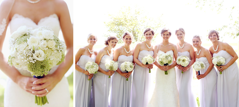 The Ohio bride and her flowers.